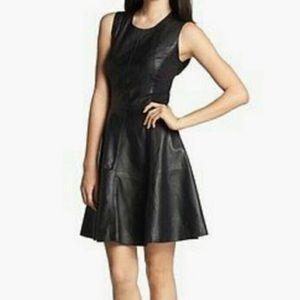 Halogen leather ponte dress